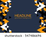 trendy horizontal geometric... | Shutterstock .eps vector #547486696