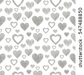 seamless vector love pattern... | Shutterstock .eps vector #547488850