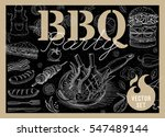 set bbq party. barbecue... | Shutterstock .eps vector #547489144