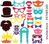 party birthday photo booth... | Shutterstock .eps vector #547489180