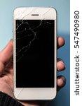 broken phone in a hand  black...   Shutterstock . vector #547490980
