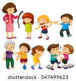 angry people fighting and... | Shutterstock .eps vector #547499623