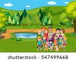 family members in the park... | Shutterstock .eps vector #547499668
