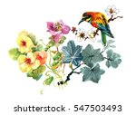 watercolor hand drawn colorful... | Shutterstock . vector #547503493
