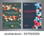 set a4 business brochure flyer... | Shutterstock .eps vector #547505050