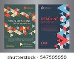 set a4 business brochure flyer... | Shutterstock .eps vector #547505050