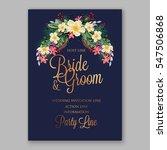 anemone wedding invitation... | Shutterstock .eps vector #547506868