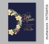 anemone wedding invitation... | Shutterstock .eps vector #547506916