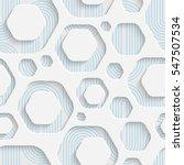 Seamless Web Hexagon Pattern. Abstract Creative Background. Modern Swatch Wallpaper. 3d Sample Design. Wrapping Plexus Texture | Shutterstock vector #547507534