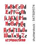 new modern custom gothic font.... | Shutterstock .eps vector #547509574