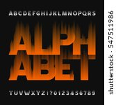 abstract flame alphabet font.... | Shutterstock .eps vector #547511986
