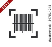 barcode icon vector flat design ... | Shutterstock .eps vector #547514248