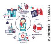 medical concept in modern flat... | Shutterstock .eps vector #547520188