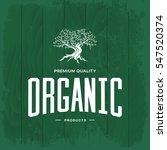 olive tree vintage logo concept ... | Shutterstock .eps vector #547520374