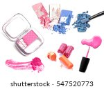 make up products isolated on... | Shutterstock . vector #547520773