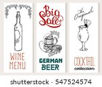 beer  vintage frame design for... | Shutterstock .eps vector #547524574