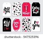 valentines day gift tag vector... | Shutterstock .eps vector #547525396
