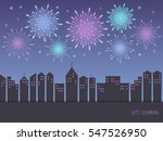 exploding colorful fireworks... | Shutterstock .eps vector #547526950