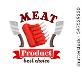 meat icon for butcher shop of... | Shutterstock .eps vector #547529320