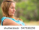 portrait profile attractive... | Shutterstock . vector #547530250