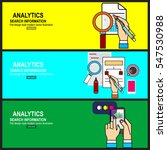 web analytics information and... | Shutterstock .eps vector #547530988