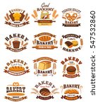 bakery emblems . signs or... | Shutterstock .eps vector #547532860