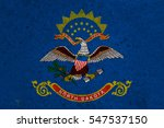 Small photo of graphic american state grunge flag of north dakota