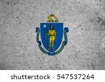 Small photo of graphic american state grunge flag of massachusetts