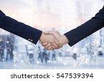 business women handshake... | Shutterstock . vector #547539394