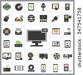 set of multimedia icons.... | Shutterstock .eps vector #547541758