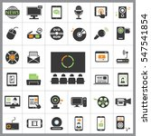 set of multimedia icons.... | Shutterstock .eps vector #547541854
