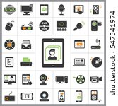 set of multimedia icons.... | Shutterstock .eps vector #547541974