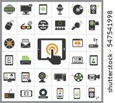 set of multimedia icons.... | Shutterstock .eps vector #547541998