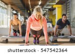 group of athletes doing push... | Shutterstock . vector #547542364