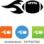 flaming american football icon | Shutterstock .eps vector #547542760