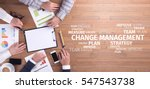 Small photo of Business Concept: Change Management Word Cloud