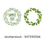 green leaf wreath hand drawn...   Shutterstock .eps vector #547550506