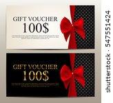 gift voucher template vector... | Shutterstock .eps vector #547551424