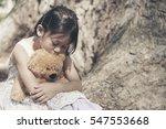 sad girl feeling alone in the... | Shutterstock . vector #547553668