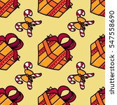 present seamless pattern in... | Shutterstock .eps vector #547558690