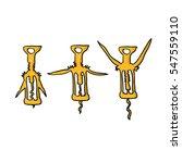 doodle corkscrew   Shutterstock .eps vector #547559110