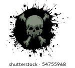 oil skull splatter | Shutterstock .eps vector #54755968