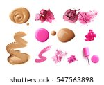 make up products isolated on... | Shutterstock . vector #547563898