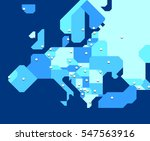 very simplified map of europe... | Shutterstock .eps vector #547563916
