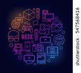 round geek bright illustration. ...   Shutterstock .eps vector #547568416