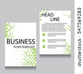 vector brochure flyer design... | Shutterstock .eps vector #547569283