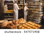 michetta and sweet food on a... | Shutterstock . vector #547571908