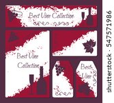 wine flyer and cards template... | Shutterstock .eps vector #547571986