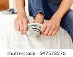 closeup of a young caucasian... | Shutterstock . vector #547573270