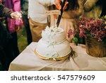 heavenly wedding cake  | Shutterstock . vector #547579609